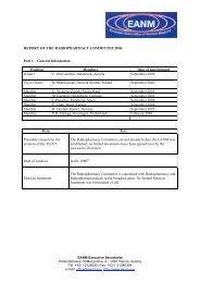 Radiopharmacy Committee report 2006 - European Association of ...