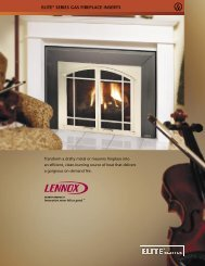 ELITE® SERIES GAS FIREPLACE INSERTS