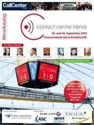 Download Messekatalog (PDF) - contact center trends