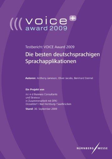 Testbericht VOICE Award 2009 - VOICE Days plus