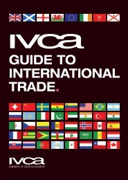 GUIDE TO INTERNATIONAL TRADE. - IVCA