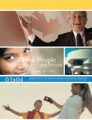 CMCC Annual Report, 2003-2004 - Canadian Museum of Civilization