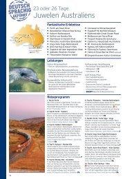 23 oder 26 Tage Juwelen Australiens - Karawane Reisen