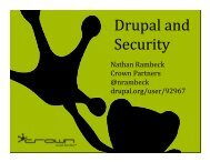 Drupal Security - Amazon Web Services