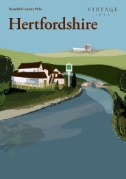 Download the Hertfordshire Collection Guide - Vintage Inns