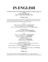 IN ENGLISH - Whittier College