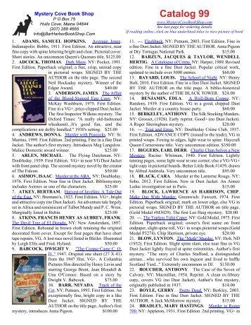 Catalog 99 - Mystery Cove Book Shop
