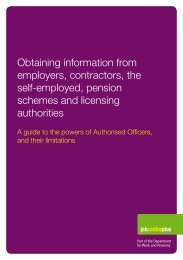 Obtaining information from employers, contractors, the self ...