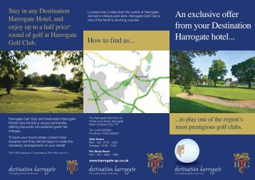 An exclusive offer from your Destination Harrogate hotel...
