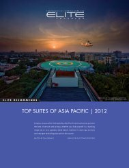 TOP SUITES OF ASIA PACIFIC | 2012 - Elite Traveler