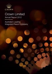 2012 Annual Report - Crown Limited