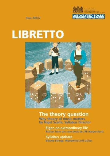 Libretto 2007-2 text:libretto text - ABRSM
