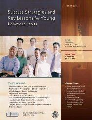 Success Strategies and Key Lessons for Young Lawyers 2012 - TYLA