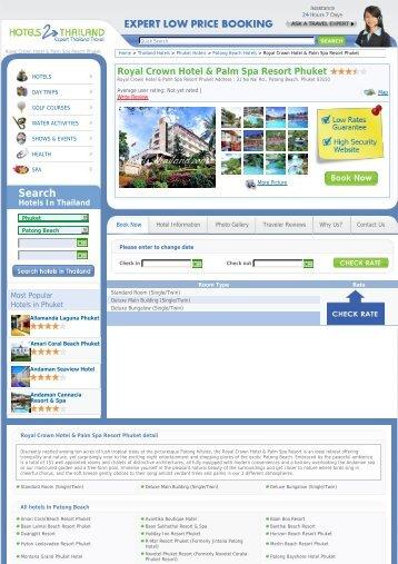 Royal Crown Hotel & Palm Spa Resort Phuket - Hotels 2 Thailand
