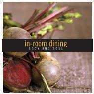 In Room Dining Menu - Crowne Plaza Queenstown