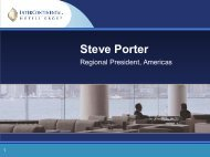 Steve Porter - InterContinental Hotels Group PLC