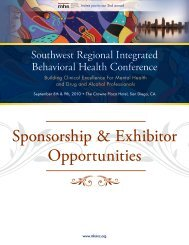 Southwest Regional Integrated Behavioral Health Conference