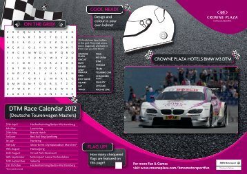 Activity Sheet - Crowne Plaza® Hotels and Resorts BMW Motorsport ...