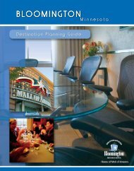 Download the Meeting Facilities Guide - Bloomington Convention ...
