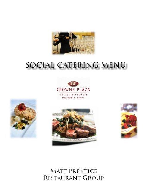 Social Menu - Crowne Plaza, Detroit - Novi