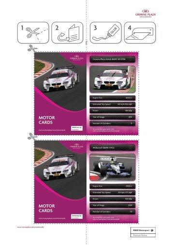 motor cards - Crowne Plaza® Hotels and Resorts BMW Motorsport ...