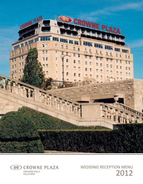 Wedding reception menu - Niagara Falls Hotels