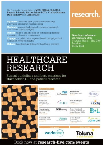 Healthcare Research conference - Research-live.com