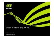 Open Platform and ACRE - EURO4M