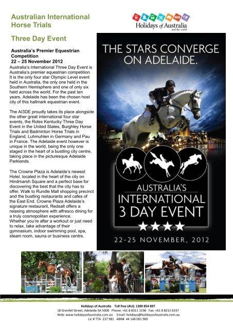 Australian International Horse Trials Three Day Event - South Australia