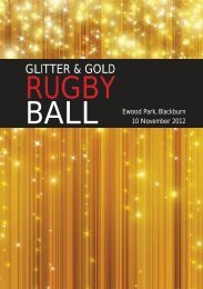 Glitter and Gold Rugby Ball 2012 - George Claxton Trust
