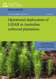CONSULTANCY REPORT - Forest and Wood Products Australia