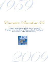 A History of Retained Executive Search Consulting Presented by the ...