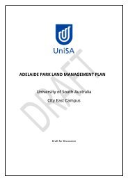 adelaide park land management plan - University of South Australia