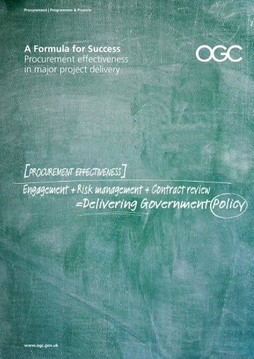 A Formula for Success Procurement effectiveness in major ... - UK Plc