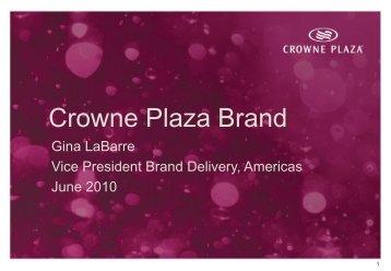 IHG plc - Crowne Plaza Brand