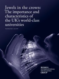 Jewels in the crown: The importance and ... - Russell Group