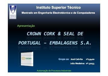 CROWN CORK & SEAL DE PORTUGAL – EMBALAGENS S.A. - ISR