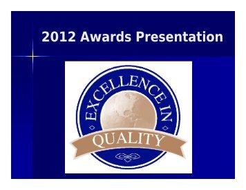 2012 Awards Presentation - International Metal Decorators ...