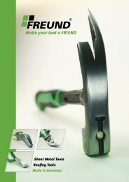 Make your tool a FRIEND - FREUND - Your Tool