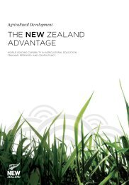 Agricultural Development The New ZeAlAnd AdvAntAge