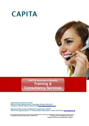 Training & Consultancy Services - Capita Software and Managed ...