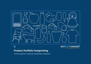 Product Portfolio Footprinting - Best Foot Forward