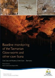 Baseline monitoring of the Tasmanian - Department of Primary ...