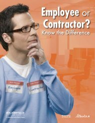 Employee or Contractor? - ALIS - Government of Alberta