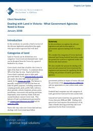 Dealing with Land in Victoria - Victorian Government Solicitor's Office