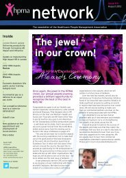 The jewel in our crown! - Healthcare People Management Association