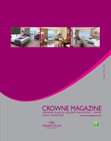 CROWNE MAGAZINE - Israel Hotels