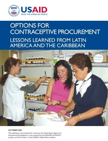 Options for Contraceptive Procurement - Health Policy Initiative
