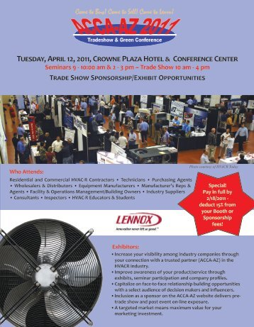 Tuesday, April 12, 2011, Crowne Plaza Hotel & Conference Center ...