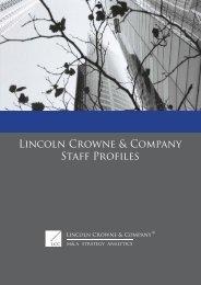 Lincoln Crowne & Company Staff Profiles